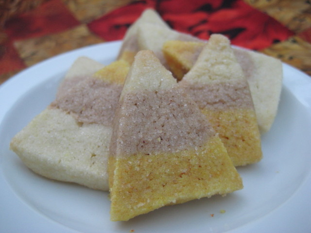 candy corn cookies with natural coloring