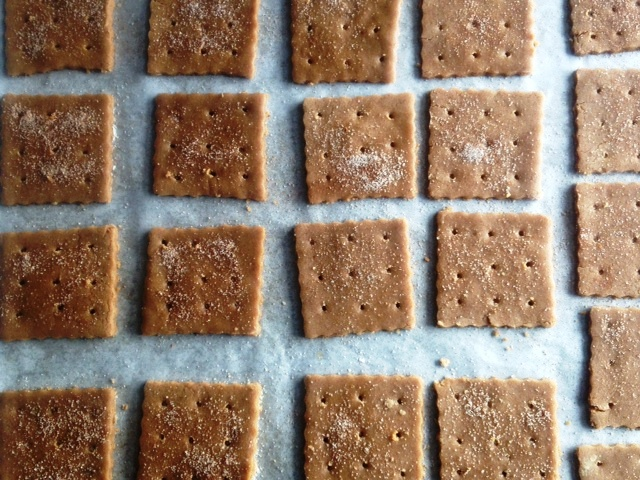 graham crackers on sheet