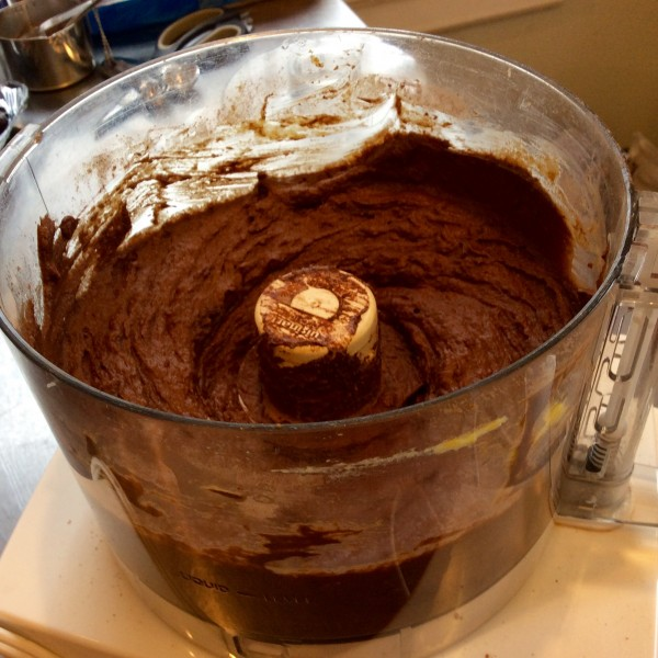 A well-blended batter ready for the baking pan.